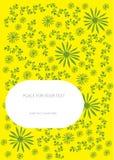 De bloemenachtergrond van de kleur met plaats voor uw tekst stock illustratie