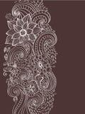 De bloemenachtergrond van de krabbel Royalty-vrije Stock Foto