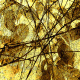 De bloemenachtergrond van de kunst grunge Stock Foto