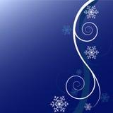 De bloemenachtergrond van de winter vector illustratie