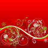 De bloemenachtergrond van de winter, vector stock illustratie