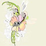 De bloemenachtergrond van de zomer Stock Foto's