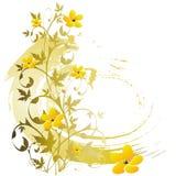 De bloemenachtergrond van Grunge Royalty-vrije Stock Fotografie
