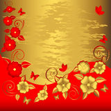 De bloemenachtergrond van Grunge. Royalty-vrije Stock Afbeeldingen
