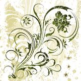 De bloemenachtergrond van Grunge Royalty-vrije Stock Afbeeldingen