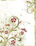 De bloemenachtergrond van Grunge Royalty-vrije Stock Afbeelding