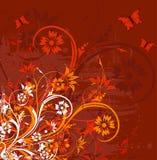 De bloemenachtergrond van Grunge royalty-vrije illustratie