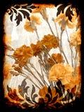De bloemenachtergrond van Grunge Royalty-vrije Stock Foto's
