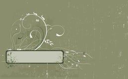 De bloemenachtergrond van Grunge Stock Afbeelding
