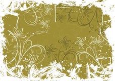 De bloemenachtergrond van Grunge met vlekken, vector Royalty-vrije Stock Foto's