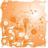 De bloemenachtergrond van Grunge, vector Stock Foto's