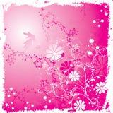 De bloemenachtergrond van Grunge, vector stock illustratie