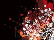De bloemenachtergrond van Grunge, vector royalty-vrije illustratie