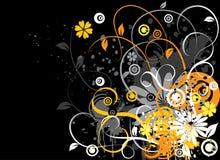 De bloemenachtergrond van Grunge, vector Royalty-vrije Stock Fotografie