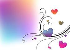 De bloemenachtergrond van harten royalty-vrije illustratie