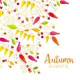 De bloemenachtergrond van de herfst Alle elementen en texturen zijn individuele voorwerpen Royalty-vrije Stock Afbeeldingen