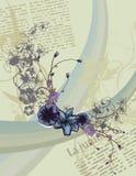 De bloemenachtergrond van het artikel vector illustratie