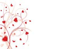 De bloemenachtergrond van het hart Stock Foto