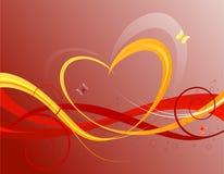 De bloemenachtergrond van valentijnskaarten Stock Afbeelding