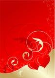 De bloemenachtergrond van valentijnskaarten Royalty-vrije Stock Fotografie