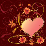 De bloemenachtergrond van valentijnskaarten Royalty-vrije Stock Foto's