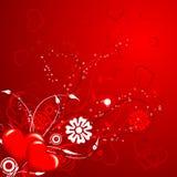 De bloemenachtergrond van valentijnskaarten, vector Stock Afbeelding