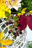 De bloemenboeketten van de herfst stock foto's