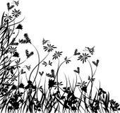 De bloemenchaos van de valentijnskaart, vector vector illustratie