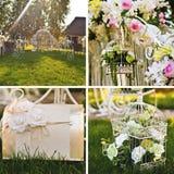 De bloemendecoratie van het huwelijk Stock Foto's