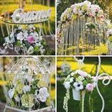 De bloemendecoratie van het huwelijk Stock Foto