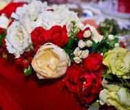 De bloemendecoratie van het huwelijk Stock Afbeelding