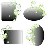 De bloemenframes van het ontwerp Royalty-vrije Stock Foto's