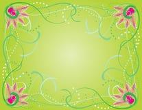 De bloemengrens van de lente royalty-vrije illustratie