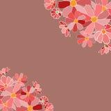 De bloemenkaart bewaart datum Royalty-vrije Stock Afbeeldingen