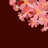 De bloemenkaart bewaart datum Stock Afbeelding