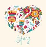De bloemenkaart van de lente Stock Afbeeldingen