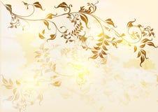 De bloemenkaart van de uitnodiging in retro stijl Stock Afbeelding
