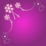 De bloemenkaart van het huwelijk Royalty-vrije Stock Afbeelding