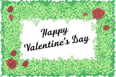 De bloemenkaart van het regelingsontwerp De dagkaart van de valentijnskaart royalty-vrije stock fotografie