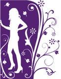 De bloemenmanier van de vrouw Stock Afbeeldingen