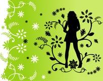 De bloemenmanier van vrouwen Stock Foto's