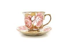 De bloemenpatronen van de koffiekop Royalty-vrije Stock Afbeelding