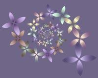 De BloemenSpiraal van de pastelkleur Royalty-vrije Illustratie