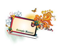 De bloemenvector van de banner Stock Afbeeldingen