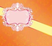 De Bloemenvector van de huwelijkskaart royalty-vrije illustratie