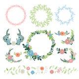De bloemenvector van de kroondecoratie Royalty-vrije Stock Afbeelding
