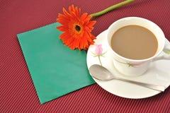 De bloemenvelop van de koffie Royalty-vrije Stock Foto