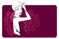 De bloemenvrouw van de schoonheid Stock Foto's