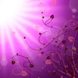 De bloemenzon vertegenwoordigt Bloemblaadje Sunny And Sunbeam royalty-vrije illustratie