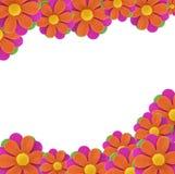 De bloemframe van de stof Stock Foto
